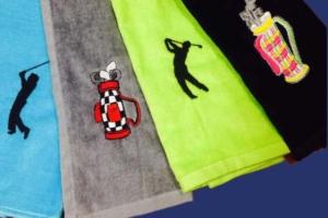 Handdoeken golfclub geborduurd door My-W Creations