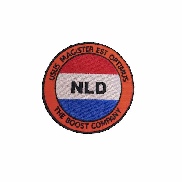 Badge NLD geborduurd door My-W Creations Rijen